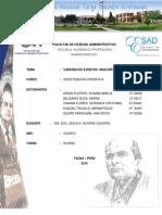 TEMA Nº3 - CADENAS DE EVENTOS -  ANALISIS DE MARKOV