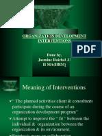 Organisational Development and Intervention