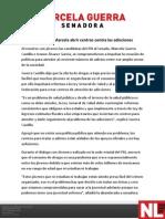 20-04-12 Promoverá Marcela abrir centros contra las adicciones