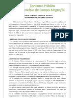 Edital Campo Alegre Publicacao