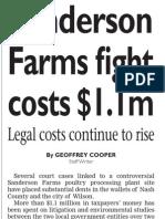Sanderson Farms fight costs $1.1m
