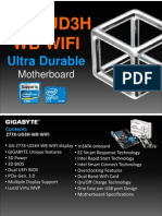 Gigabyte GA-Z77X-UD3H WB WiFi Motherboard (PDF)