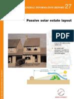 Passive Solar Estate Layout