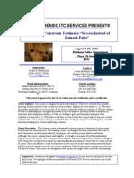 Courtroom Testimony Flyer