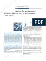 Cognitive Behavioral Therapy in Anxiety Disorders - Currente State of the Evidence