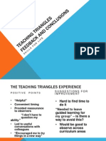 Teaching Triangles Feedback and Conclusions