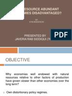 Are Resource Abundant Economies Disadvantaged
