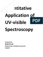 Quantitative Application of UV-Visible Spectroscopy