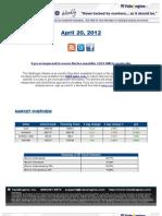 ValuEngine Weekly Newsletter April 20, 2012