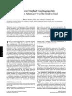 Anastomosis Intratoracica Esofago-gastrica