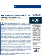 The European space industry, an endangered species?