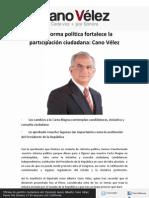 19-04-12 La reforma política fortalece la participación ciudadana