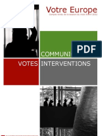 Bilan de la session plénière Avril 2012