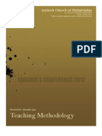 Teacher's Conference - Teaching Methodology