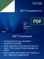 NET Framework 4.0 Overview