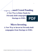 Equity-Based Crowd Funding