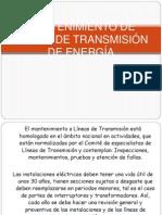 MANTENIMIENTO DE LÍNEAS DE TRANSMISIÓN DE ENERGÍA