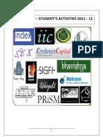 Students Activity Report 2011-12