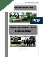 Memoria Institucional 2011 San Lorenzo