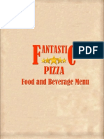 Fantastic Pizza &Cafe Menu