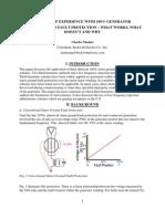 Generator 100%  stator earth fault protection using subharmonic technique