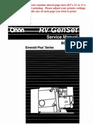 Adjusting Governor On Onan Generator