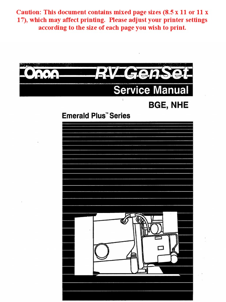 Onan Nhe Wiring Diagram Bge Service Manual Carburetor Ignition For Generator System