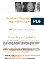 Transitional Employment for High Risk Young People