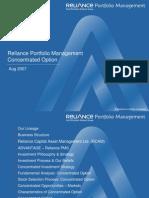 Reliance PMS Concentrated Portfolio