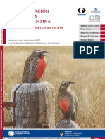Categorizacion de Las Aves de La Argentina 2008
