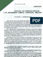 Intelectuales y El Reformismo Liberal- Zimmermann