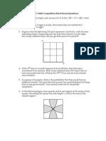 2009 AUC Math Competition Short Round Questions