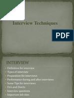 Interview Techniques