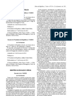 DL 42-2012 Altera DL 74-2004 Ensino secundário