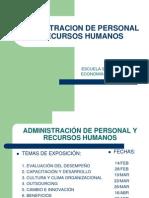 Administracion de Personal y Recursos Humanos