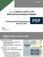 Metro Connector to LAX Alt Analysis
