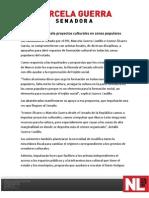 20-04-12 Apoyará Marcela proyectos culturales en zonas populares