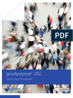 Executive Summary: 2012 Edelman goodpurpose® Study