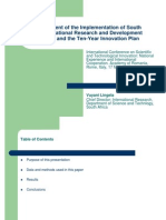 Implementation of the R&D Strategy and the Innovation Plan