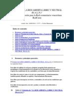 4 Estatutos de La Red Abierta, Llibre y Neutral RedCom