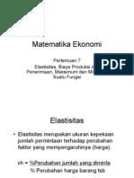 matematika Ekonomi-pertemuan 7