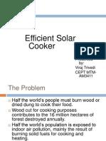 Efficient Solar Cooker