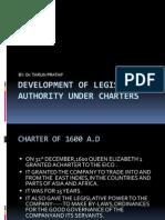 Development of Legislative Authority Under Charters