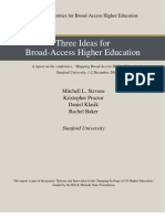 Three Ideas for Broad-Access Higher Education