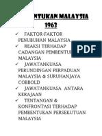 Pembentukan Malaysia 1963 (Nota Ringkas)