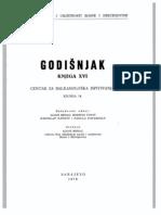 Godišnjak Centra za balkanološka ispitivanja Akademije nauka i umjetnosti BiH [knjiga 16, 1978.]