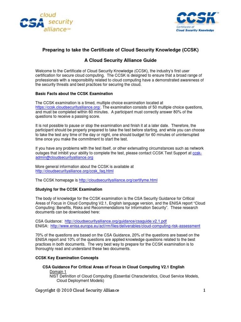 Ccsk Prep Cloud Computing Vulnerability Computing