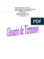 glosario. recreacion