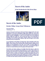 Secret of the Andes 01 Origin of White Brotherhood of 7 Rays