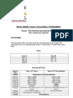 U13 Boys Volleyball Tournament BISAC 2012-2013